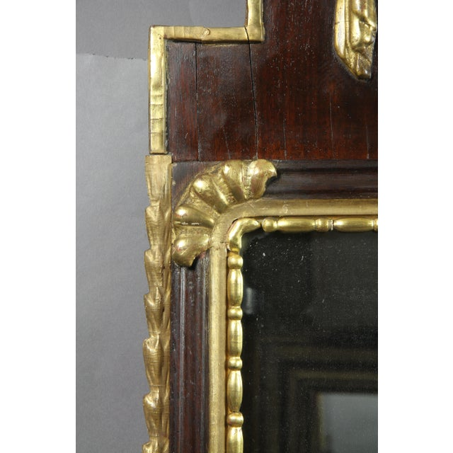 Danish Neoclassical Mahogany and Parcel Gilt Mirror For Sale - Image 4 of 7