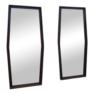 Mid Century Modern Pair Wall Dresser Bathroom Vanity Mirrors 2223 For Sale