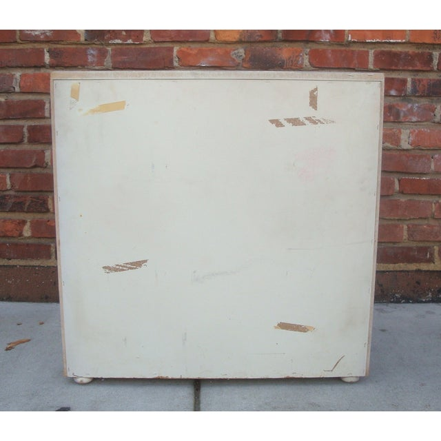 Dove Gray Campaign Chest of Drawers For Sale - Image 7 of 7