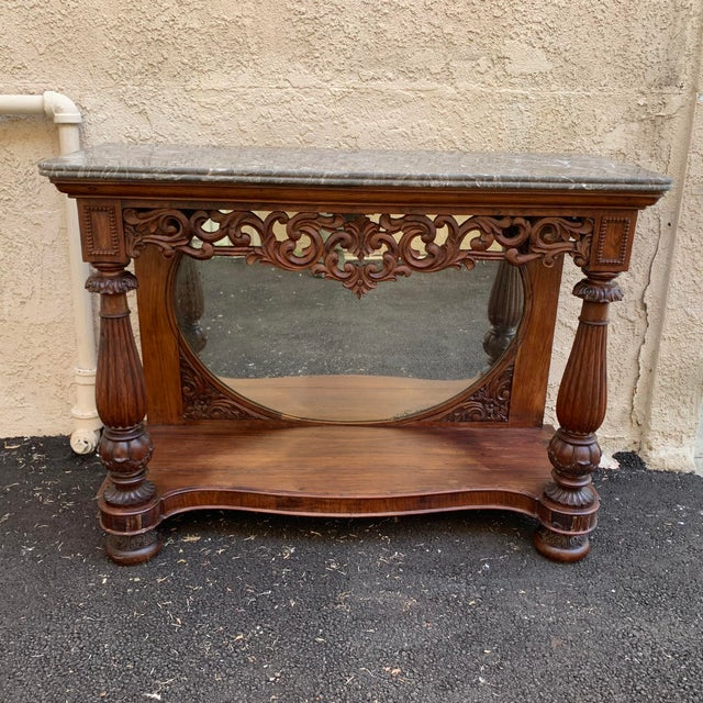 Late 19th Century Victorian Entry Table Console With Marble Top For Sale - Image 11 of 11