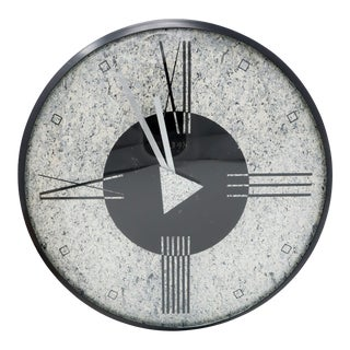 1980s Post Modern Wall Clock by Empire Arts For Sale