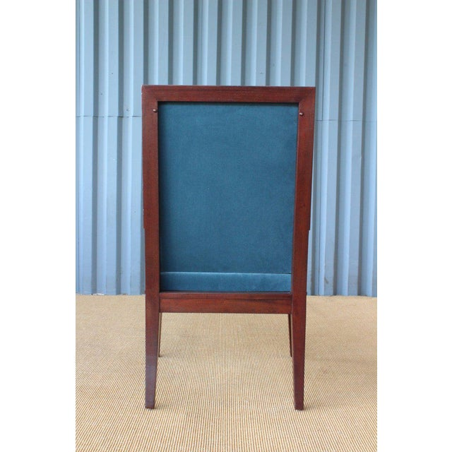 Mahogany Armchair in Velvet, France, 1940s. Set of Four Available. For Sale - Image 10 of 12