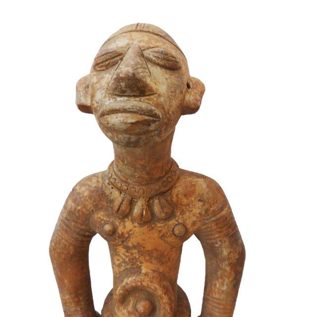 African Bamun Male Terracota Figurine For Sale - Image 3 of 8