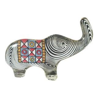 1970s Abraham Palatnik Lucite Elephant Figure, Signed For Sale