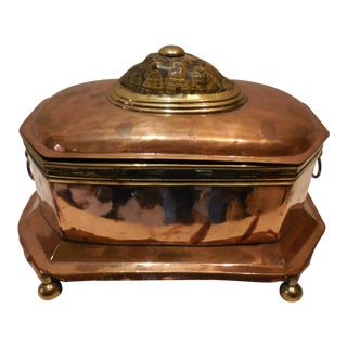 19th Century Copper Box With Tortoise
