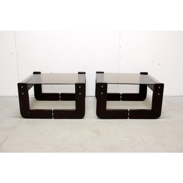 Vintage Brazilian Percival Lafer Jacaranda Rosewood Side Tables - a Pair For Sale - Image 12 of 12