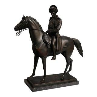 Early Austrian Alois Hernick Bronze, Napoleon zu Pferde, Battle of Jena For Sale