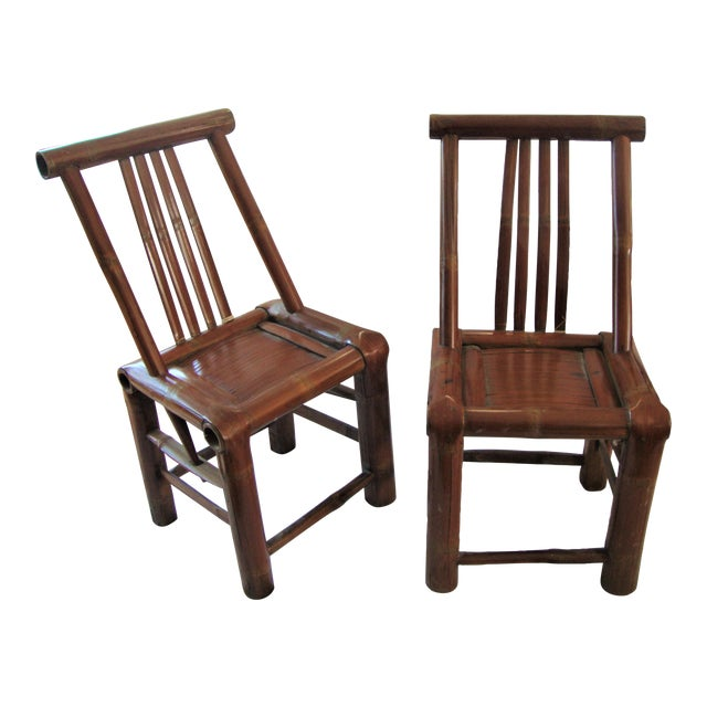 Primitive Bamboo Chairs- A Pair - Image 1 of 8