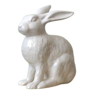 White Ceramic Rabbit Figurine For Sale