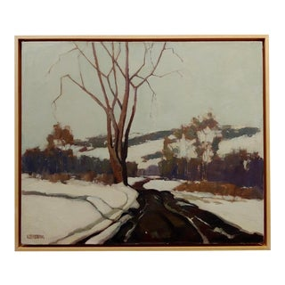 George Spangenberg -White Winter Landscape in Julian,California-Oil Paining For Sale