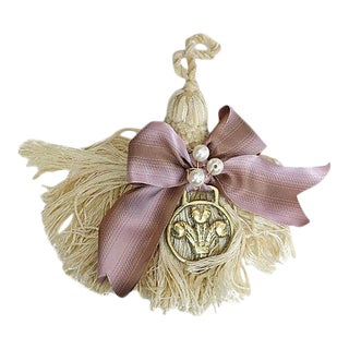 19th Century Horse Brass Tassel Ornament For Sale