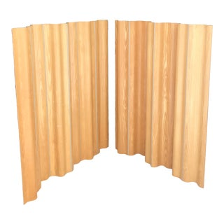 2 Avail Eames Herman Miller Ash 6 Panel Screen Room Divider Mid Century Modern For Sale