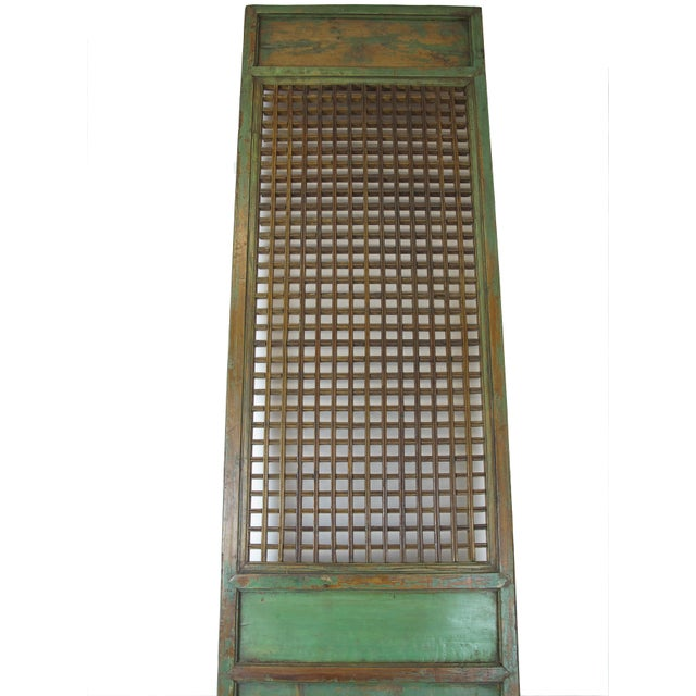 1900 - 1909 1900s Antique Chinese Lattice Panels- Set of 6 For Sale - Image 5 of 9