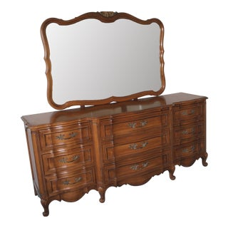 Thomasville Bedroom Dresser & Mirror For Sale