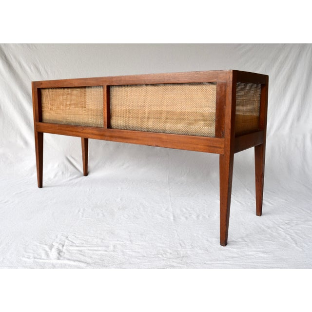 1950s Walnut Window Bench Attributed to Edward Wormley for Dunbar For Sale - Image 9 of 13