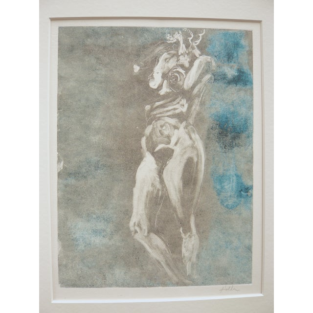 Soft Green Nude Monotype - Image 5 of 6