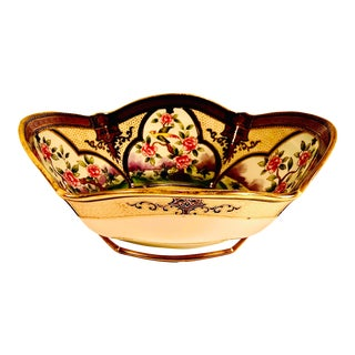 Vintage Mid 20th Century Hand Painted Nippon Morimura Porcelain China Bowl For Sale