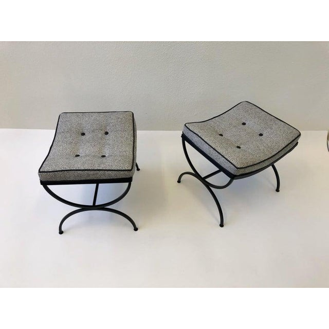 Black Sculptura Ottomans by Woodard - a Pair For Sale In Palm Springs - Image 6 of 11