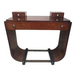 Art Deco U Band Console Table For Sale