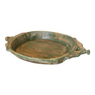 Antique Green Dough Bowl For Sale