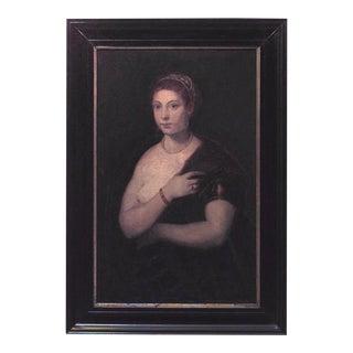 Italian Neo-Classic Draped Lady Portrait For Sale