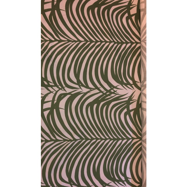 Iconic fabric with green palm fronds on white background! 4 - 5 yards of this tropical cool palm fabric PERFECT!