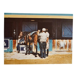 """Late 20th Century """"Lucky Penny (Horse Stable)"""" Figurative Lithograph by Richard McLean For Sale"""