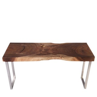 Organic Modern Rippling Rain Drops Console Table For Sale