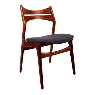 Vintage Danish Teak Dining Chair by Erik Buck For Sale