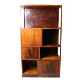 Mid 20th Century Art Deco Bookshelf With Locking Compartments For Sale