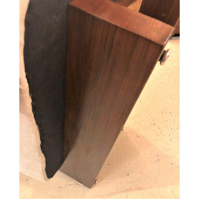 Pair of Modern Art Deco Rosewood Club Bergère or Lounge Chairs For Sale - Image 9 of 13