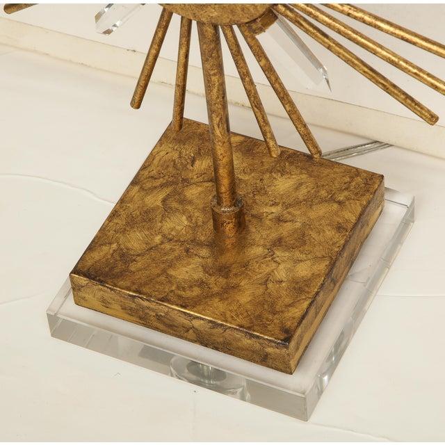 Gilt Metal Sunburst Lamps For Sale In New York - Image 6 of 10