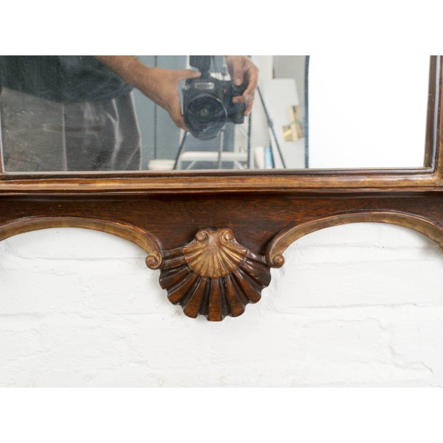 Wood Antique Italian Giltwood Rococo Mirror For Sale - Image 7 of 9