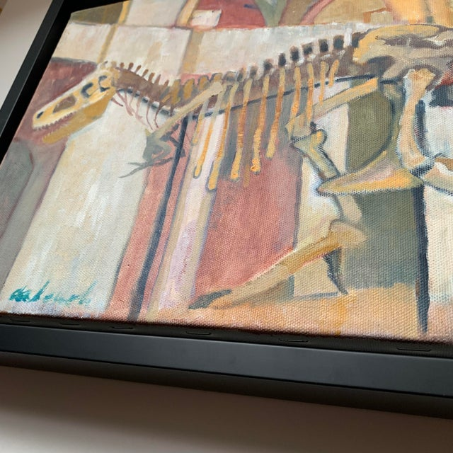Canvas Frank deLoach Dinosaur Oil Paintings - A Pair For Sale - Image 7 of 12