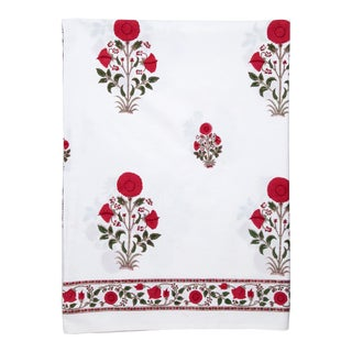 Amaya Fitted Sheet, Twin - Red For Sale