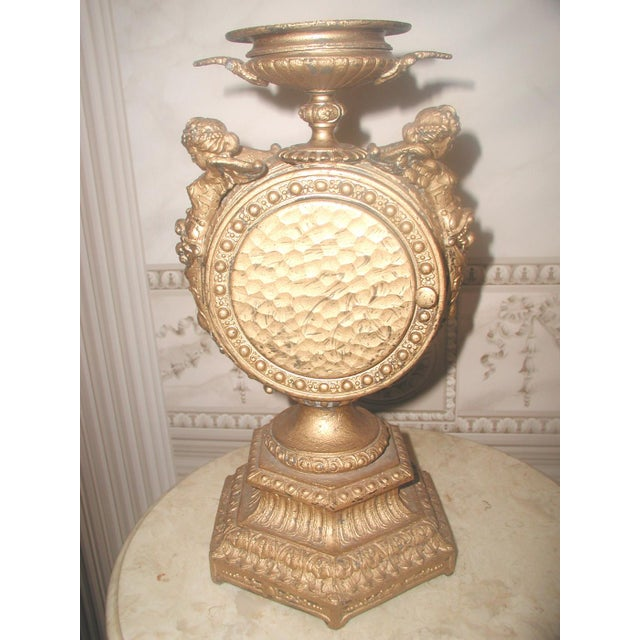 Late 19th Century 1890-1900 Mayer 8 Day Cherub Gilt Clock For Sale - Image 5 of 9