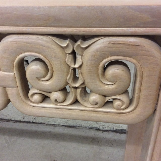 Asian Style White Wash Wood Carved Console Table For Sale In Richmond - Image 6 of 12