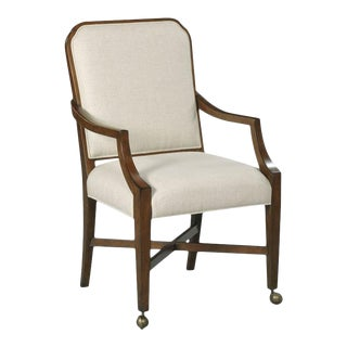 Woodbridge Brooks Pierced Back Tapered Arm Chair For Sale