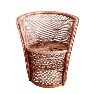 Vintage Wicker Accent Chair