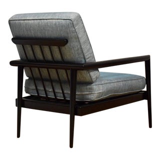 Edmond Spence Black Lacquer Lounge Chair