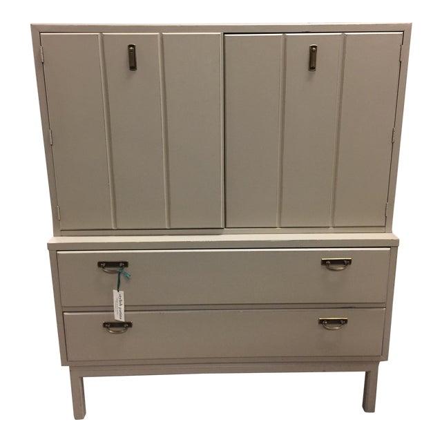 Mid-Century Modern Tan Dresser - Image 1 of 9