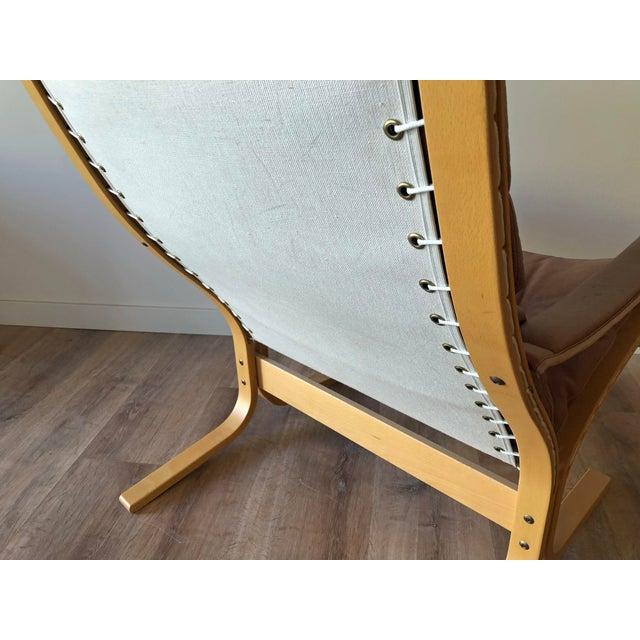 Ingmar Relling for Westnofa Mid-Century Modern Leather Siesta Chair With Ottoman For Sale In Seattle - Image 6 of 13
