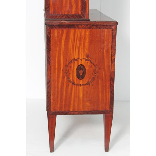 George III Satinwood and Inlaid Bookcase Attributed to Gillows For Sale - Image 9 of 13
