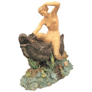 "French ""Mermaid"" Ceramic Sculpture Signed, H. Gauthier For Sale"
