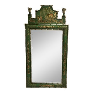 Italian Chinoiserie Style Mirror For Sale