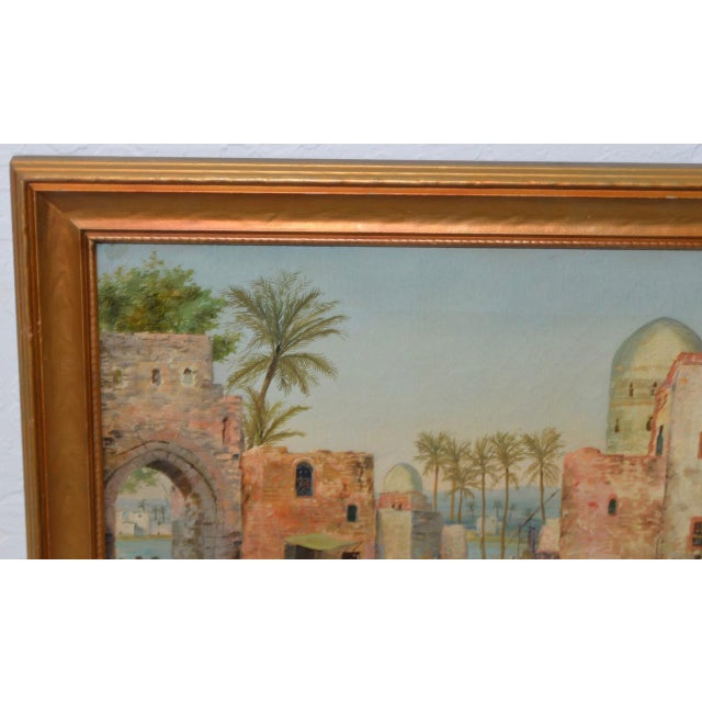 Late 19th to Early 20th Century Middle East Oil Painting For Sale In San Francisco - Image 6 of 8