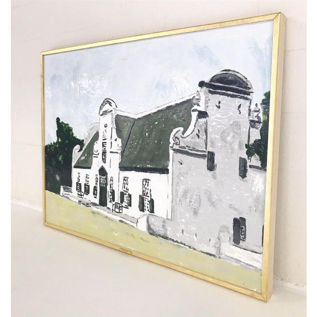 "John O'Hara. Cape Dutch. Encaustic Painting. 37.5x49.5"" For Sale - Image 4 of 5"