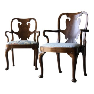 Set of Nine George II Style Mahogany Dining Chairs For Sale