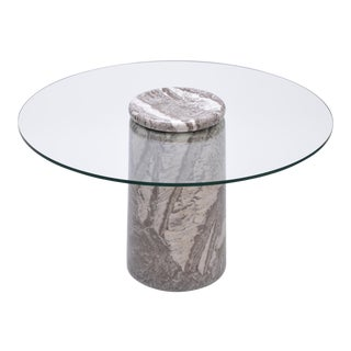 Angelo Mangiarotti Large Italian Marble Dining Table Model Castore, 1975 For Sale