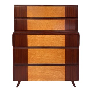 American Mid-Century Modern Tall Chest of Drawers by Rway Furniture Co. For Sale